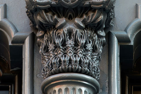 Obsidian House Cast-iron column capitals